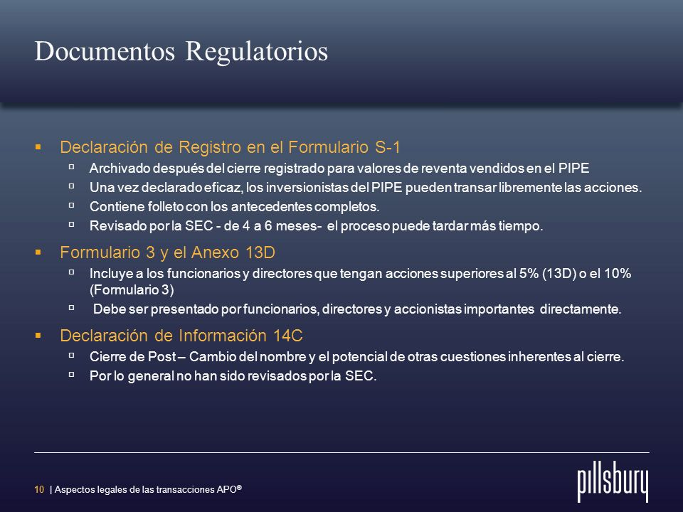 Documentos Regulatorios
