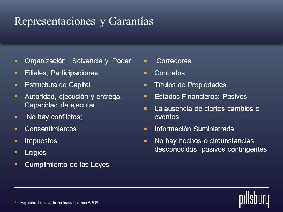 Representaciones y Garantías