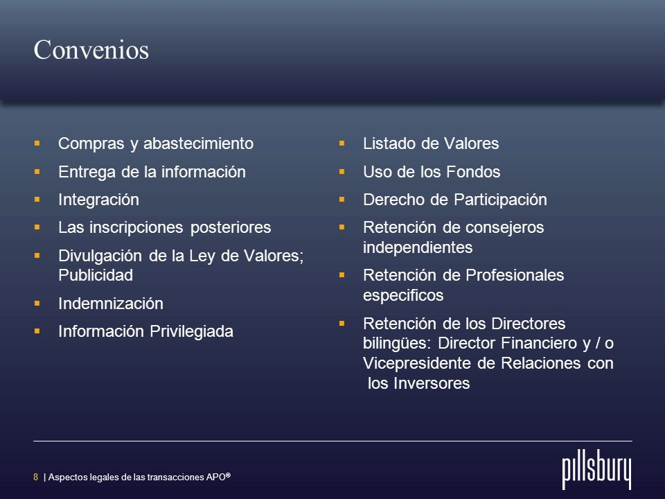 Convenios Compras y abastecimiento Entrega de la información
