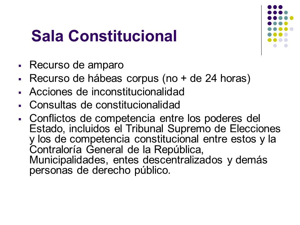 Sala Constitucional Recurso de amparo