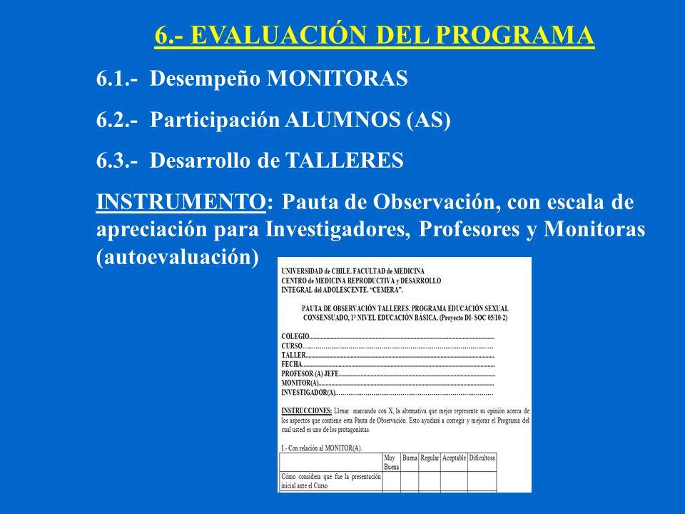 6.- EVALUACIÓN DEL PROGRAMA