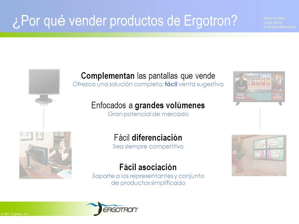 ¿Por qué vender productos de Ergotron