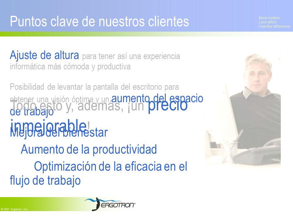 Puntos clave de nuestros clientes