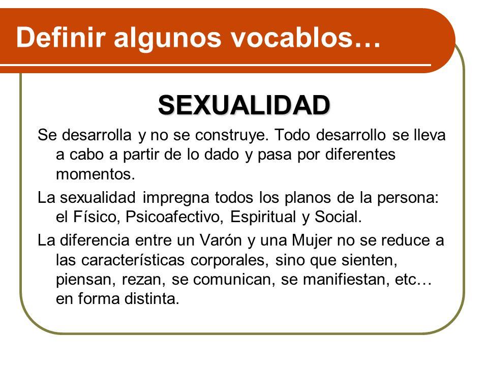 Definir algunos vocablos…