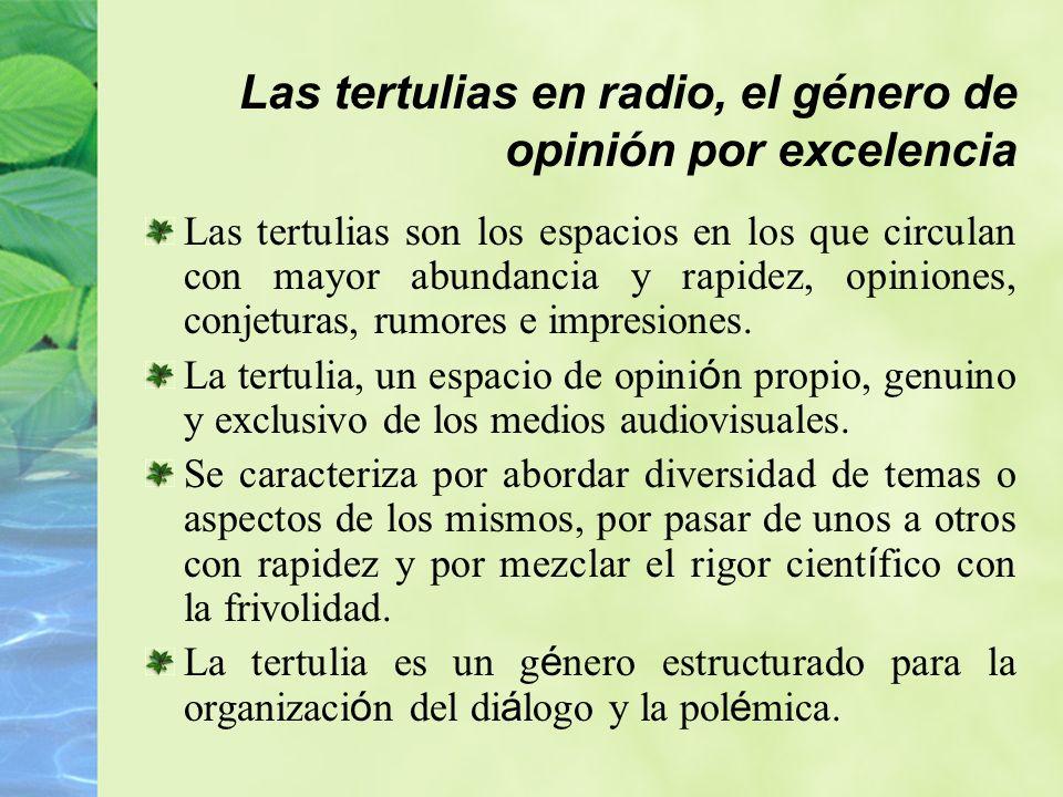 Las tertulias en radio, el género de opinión por excelencia