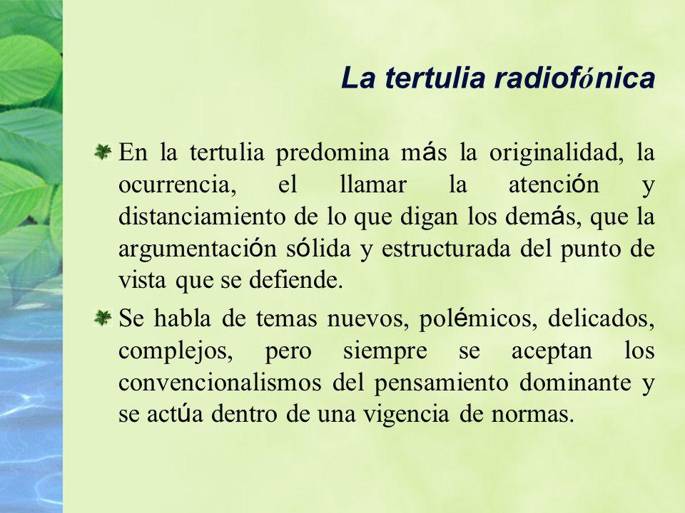 La tertulia radiofónica