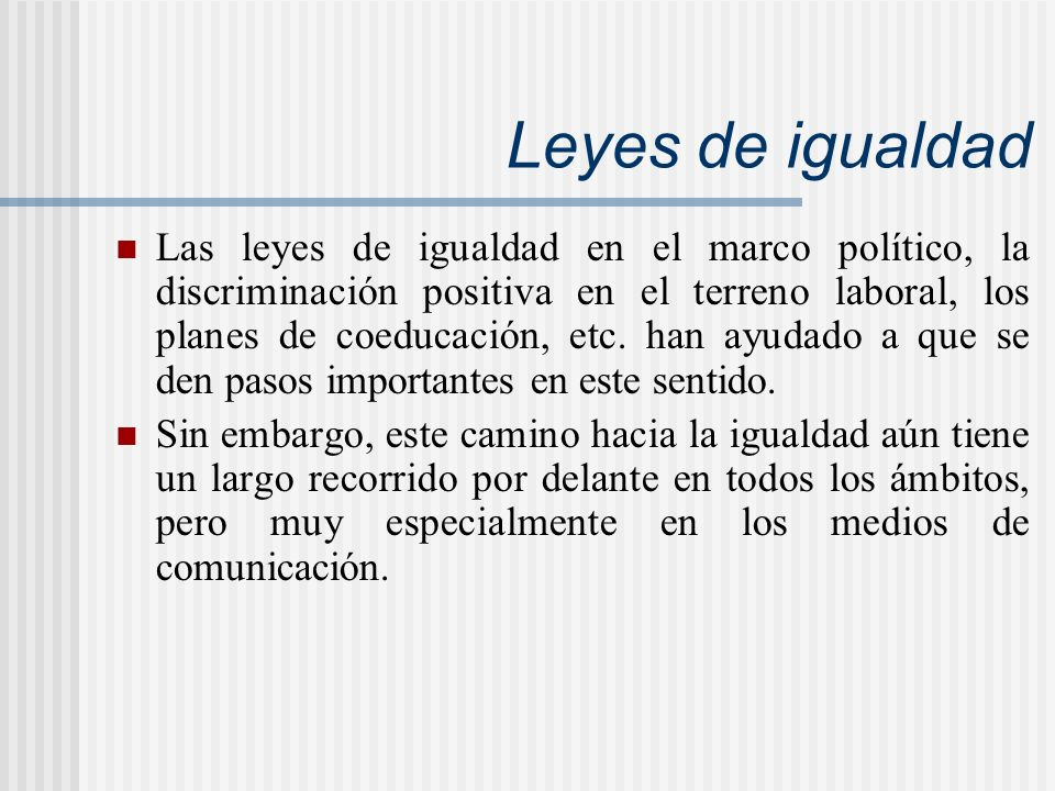 Leyes de igualdad
