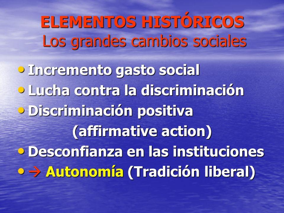 ELEMENTOS HISTÓRICOS Los grandes cambios sociales