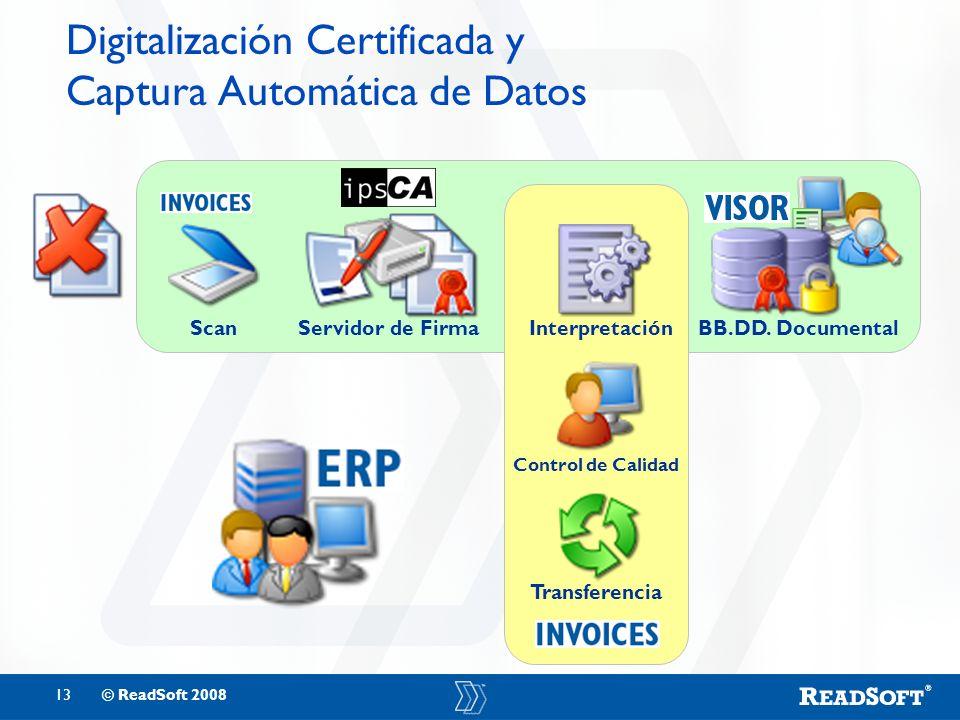Digitalización Certificada y Captura Automática de Datos