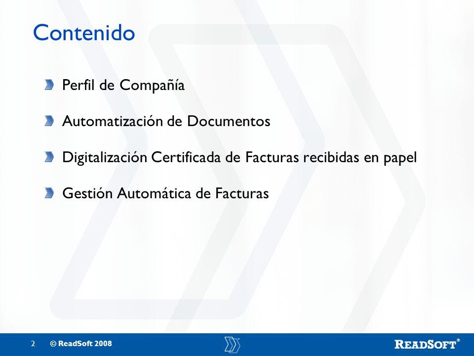 Contenido Perfil de Compañía Automatización de Documentos