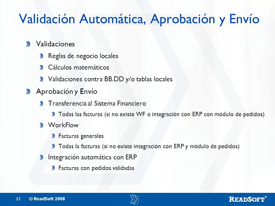 Validación Automática, Aprobación y Envío