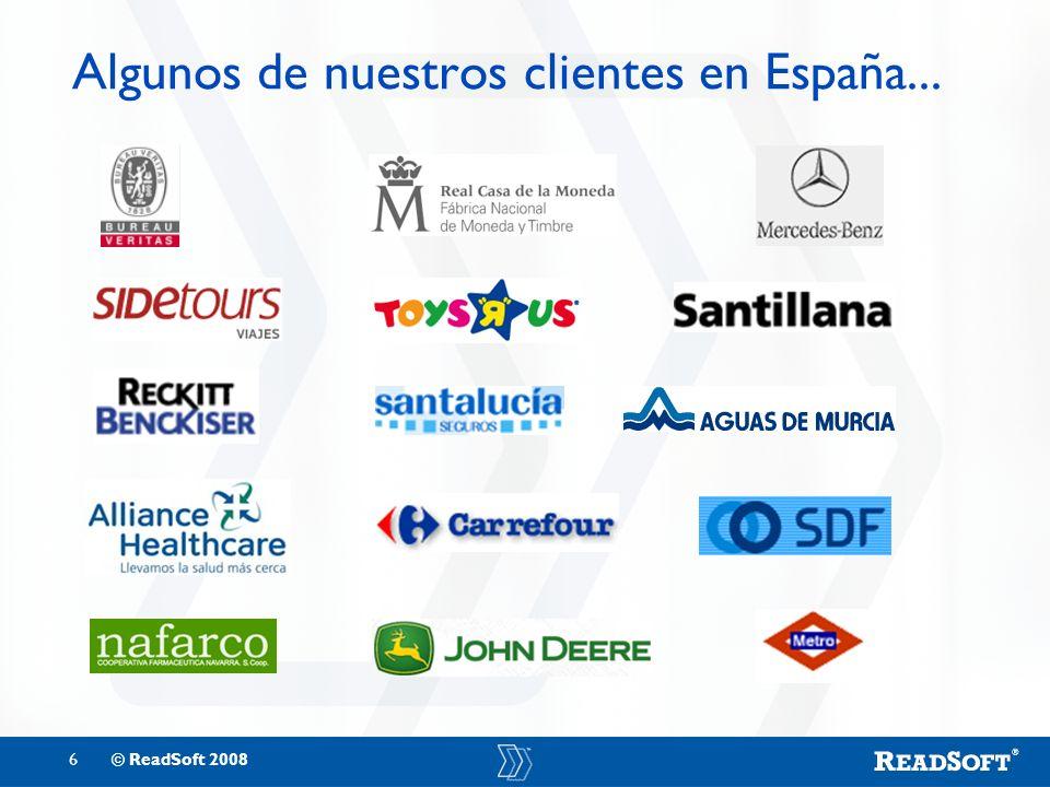 Algunos de nuestros clientes en España...