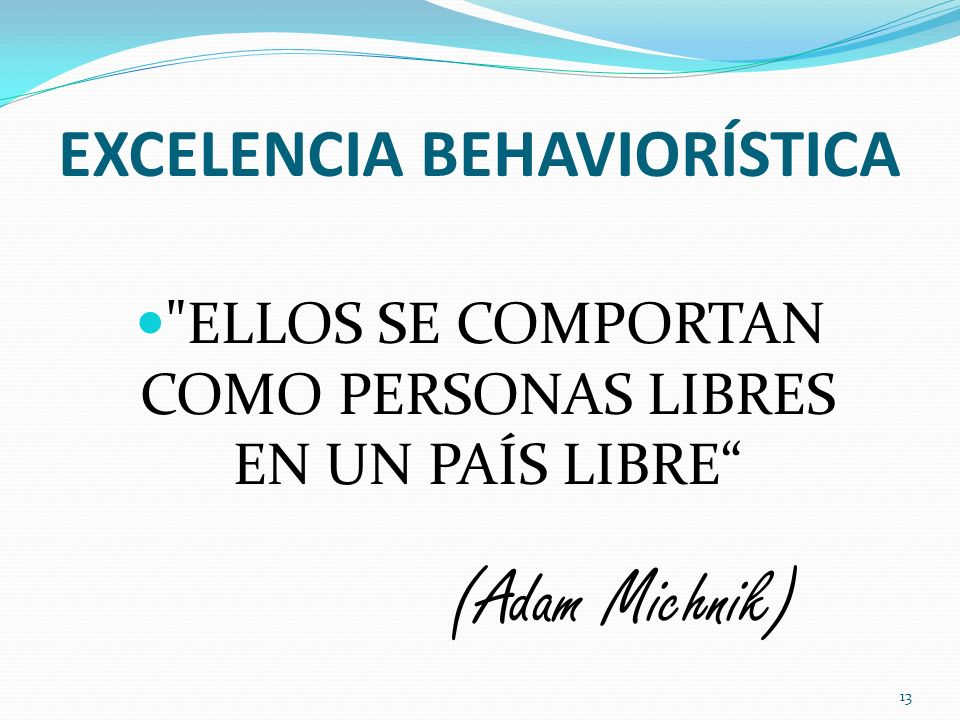 EXCELENCIA BEHAVIORÍSTICA