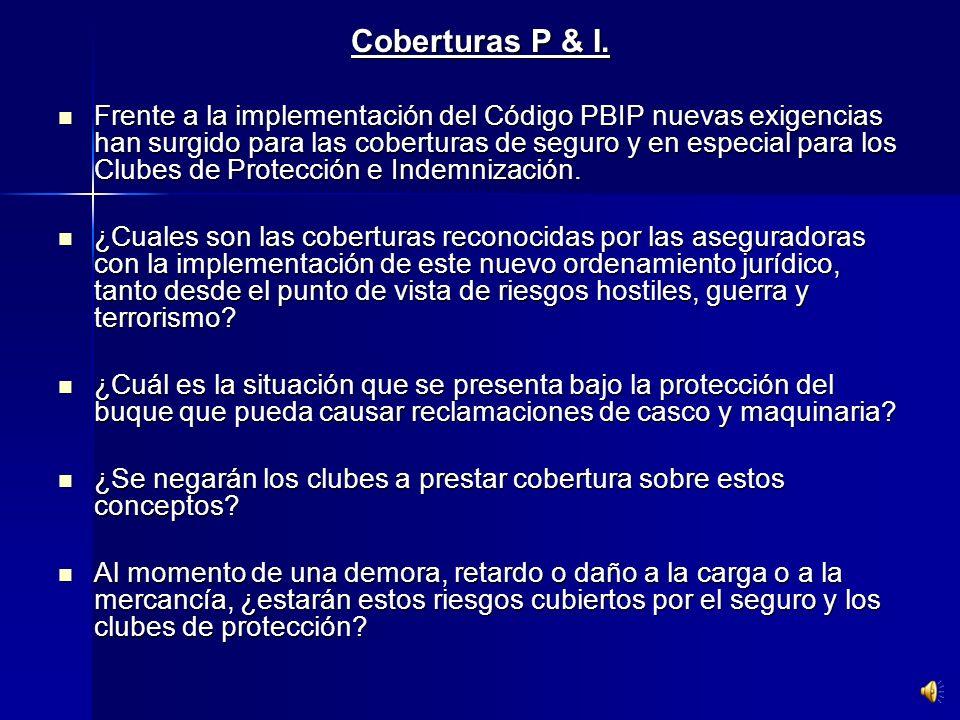 Coberturas P & I.