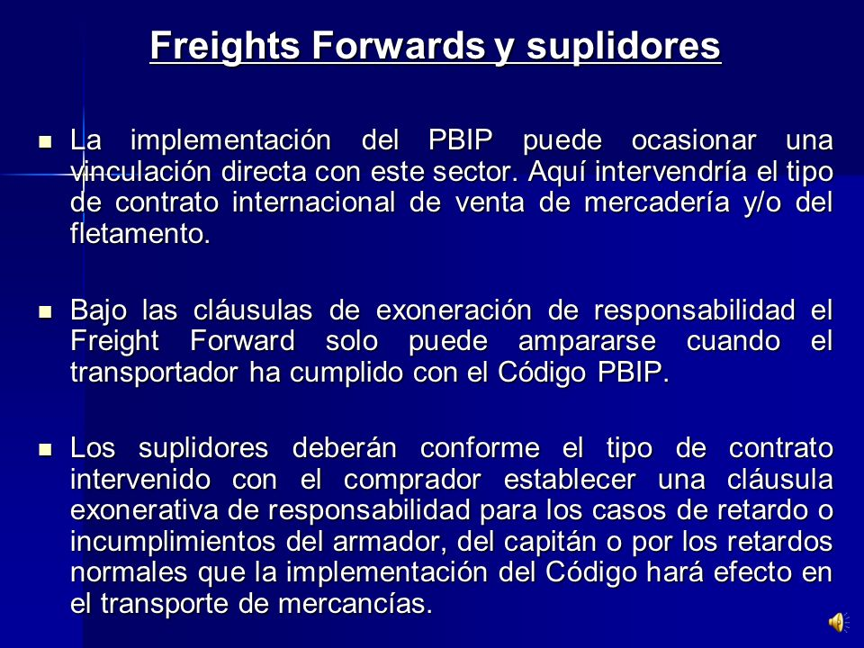 Freights Forwards y suplidores