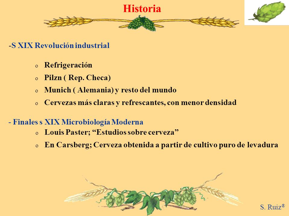 Historia S XIX Revolución industrial Refrigeración Pilzn ( Rep. Checa)