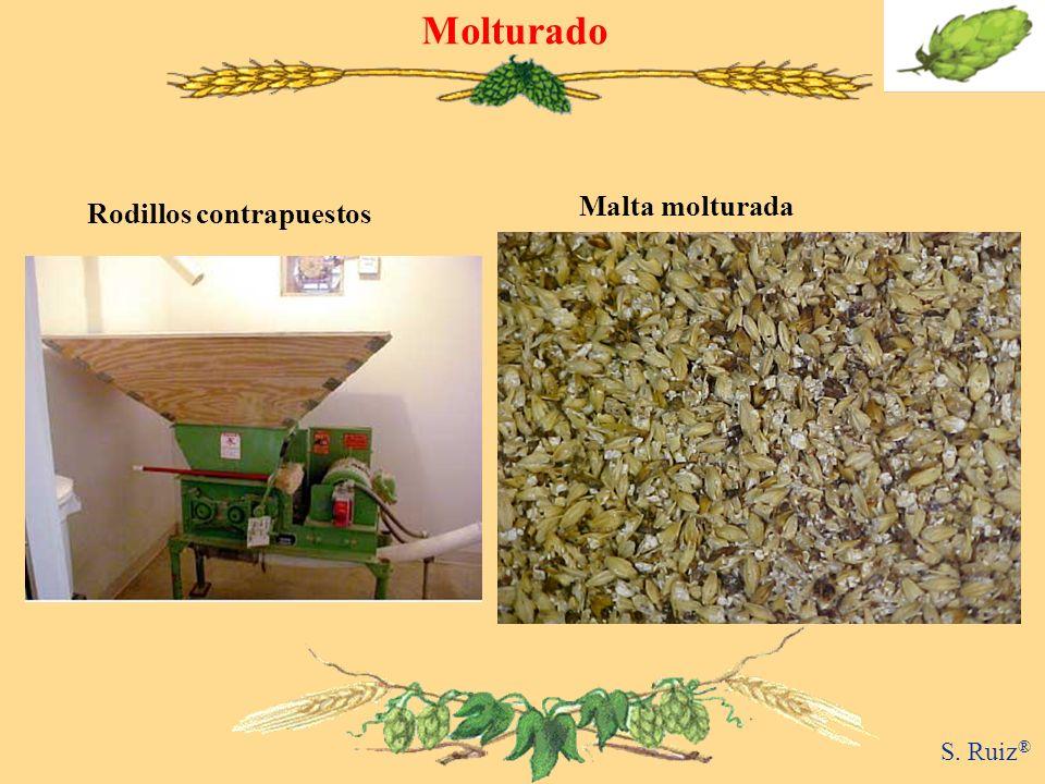Molturado Rodillos contrapuestos Malta molturada S. Ruiz®