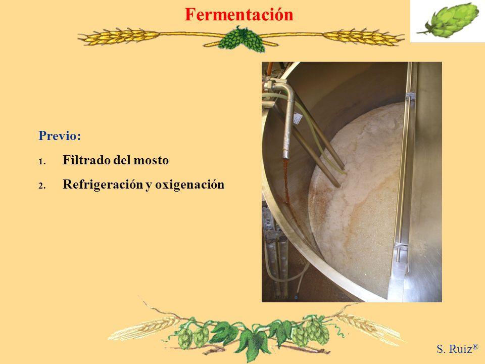 Fermentación Previo: Filtrado del mosto Refrigeración y oxigenación