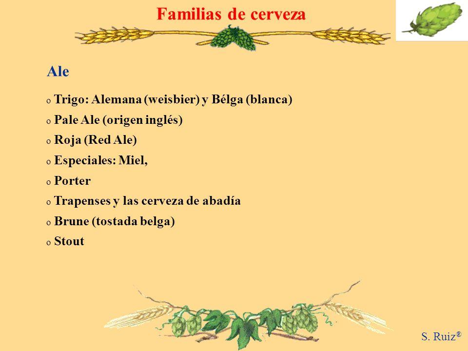 Familias de cerveza Ale Trigo: Alemana (weisbier) y Bélga (blanca)