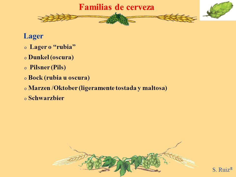 Familias de cerveza Lager Lager o rubia Dunkel (oscura)