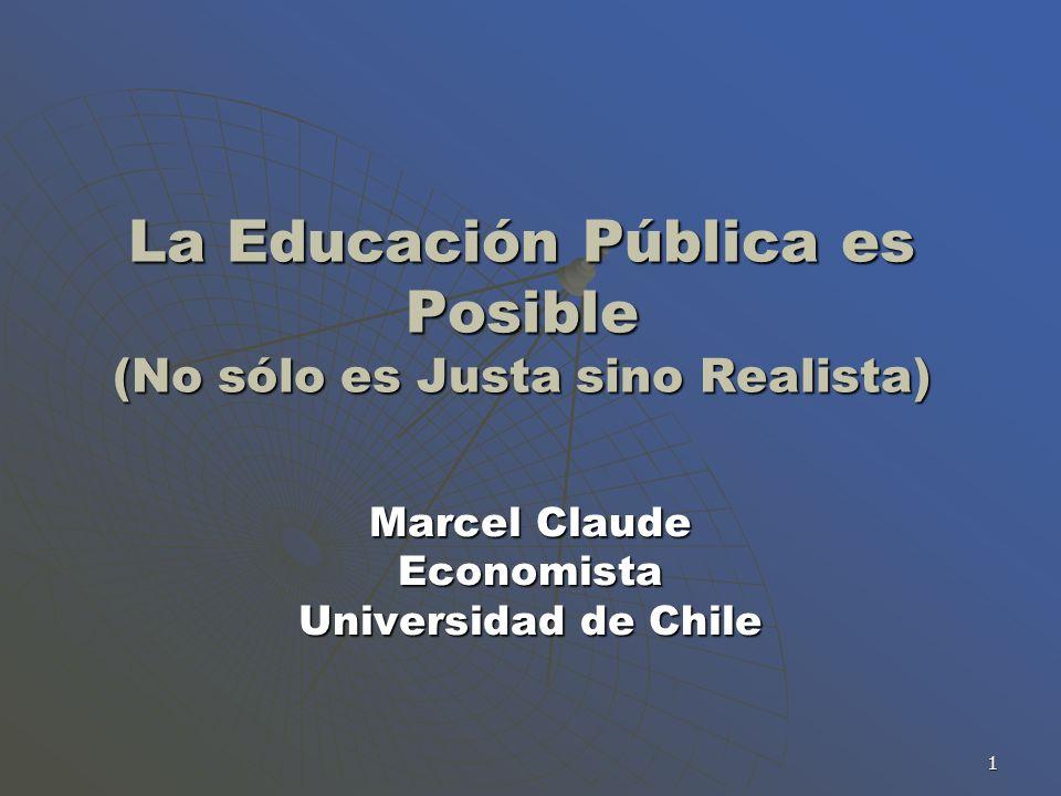 La Educación Pública es Posible (No sólo es Justa sino Realista)
