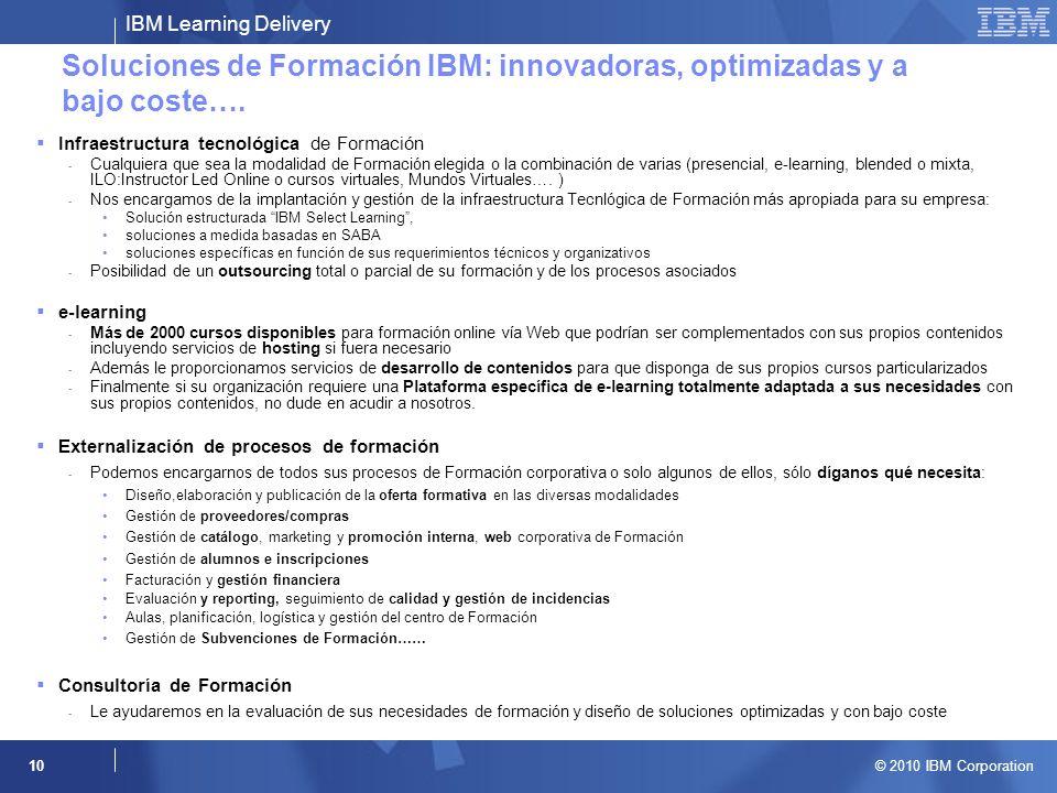 Soluciones de Formación IBM: innovadoras, optimizadas y a bajo coste….
