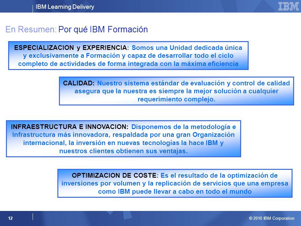 En Resumen: Por qué IBM Formación