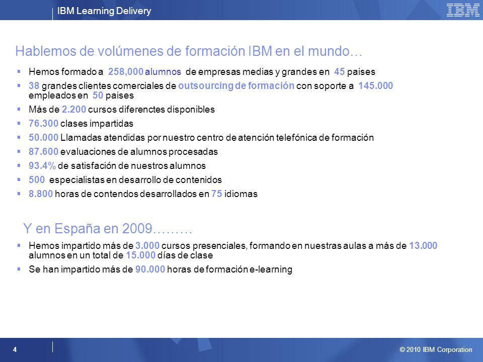 Hablemos de volúmenes de formación IBM en el mundo…