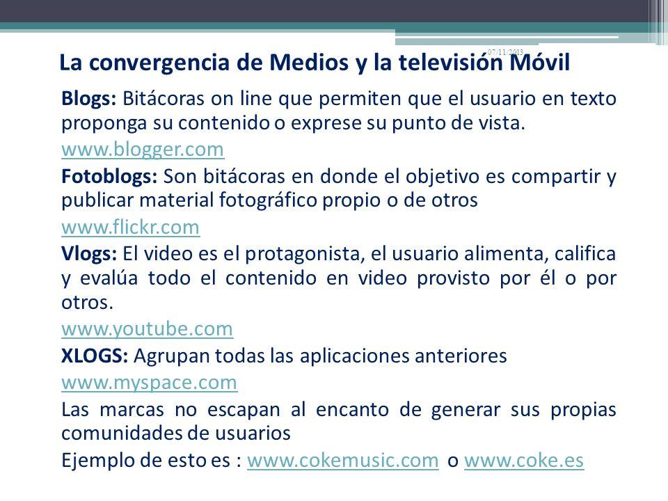La convergencia de Medios y la televisión Móvil