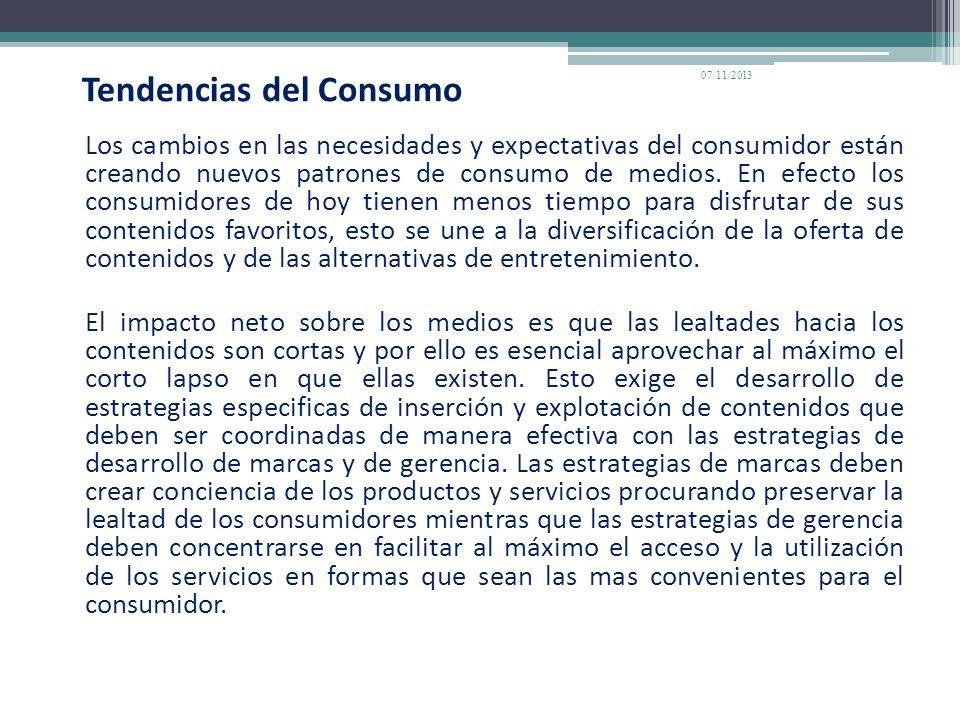 Tendencias del Consumo