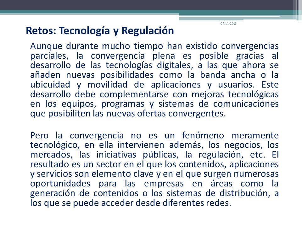 Retos: Tecnología y Regulación