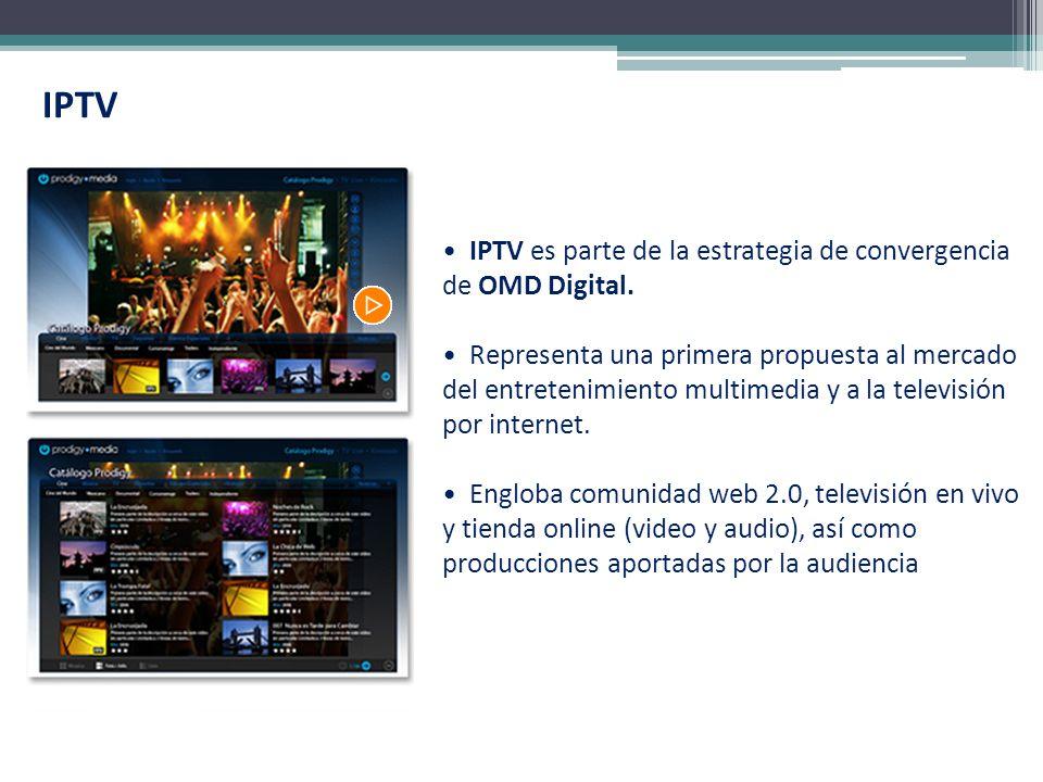 IPTV IPTV es parte de la estrategia de convergencia de OMD Digital.
