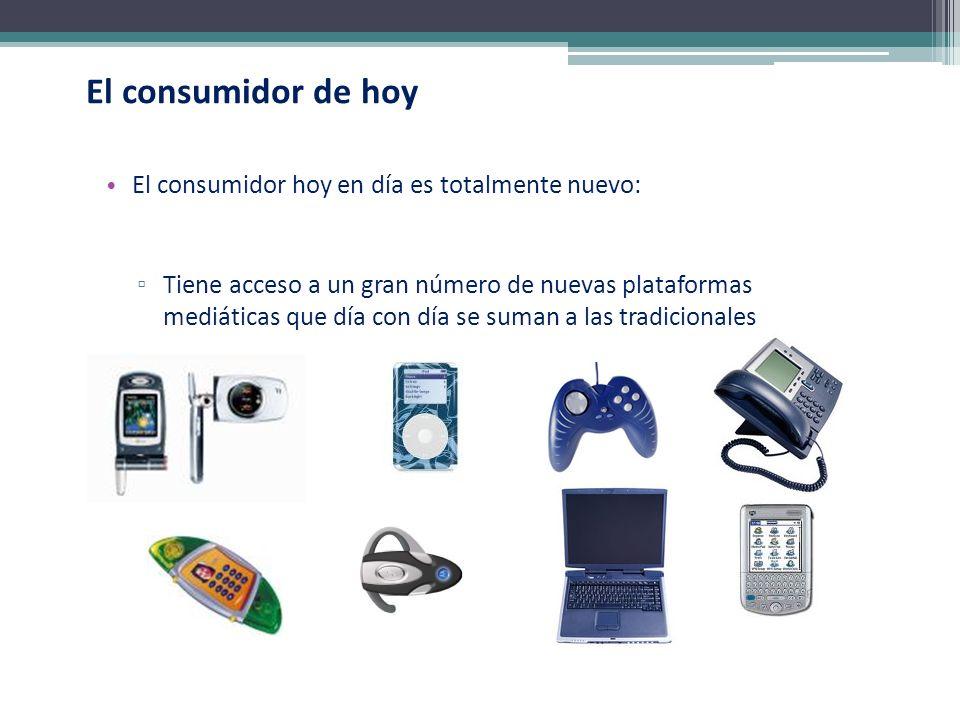 El consumidor de hoy El consumidor hoy en día es totalmente nuevo: