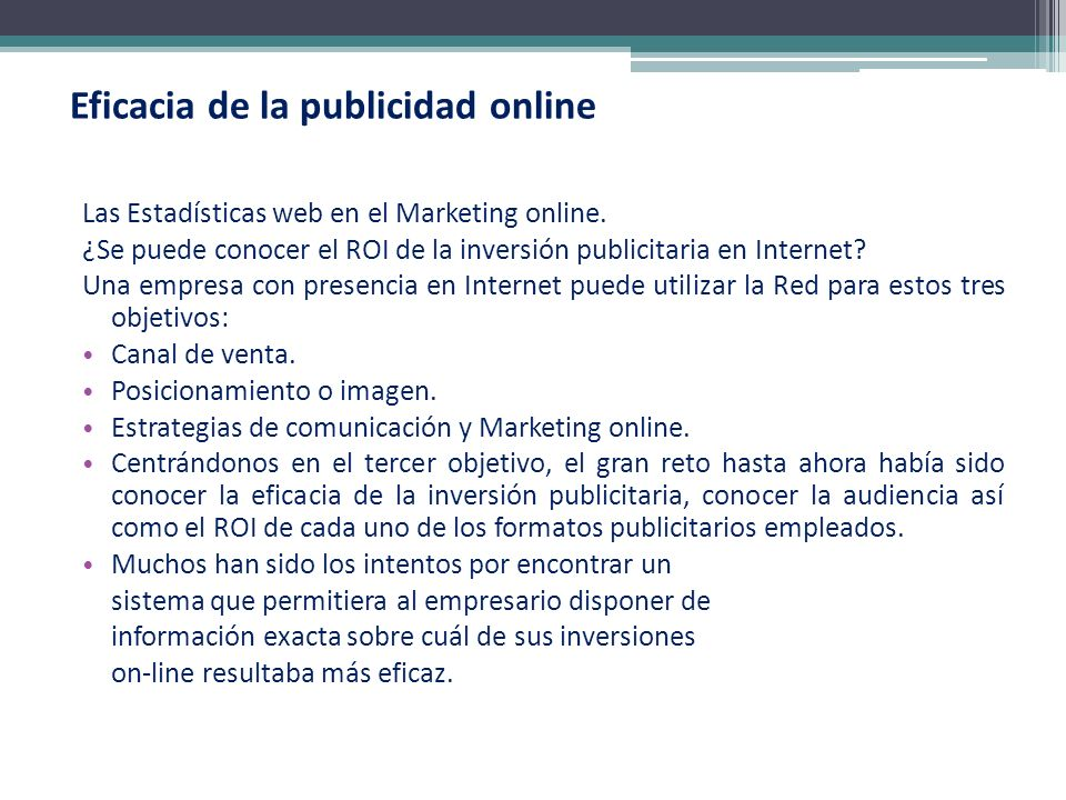 Eficacia de la publicidad online