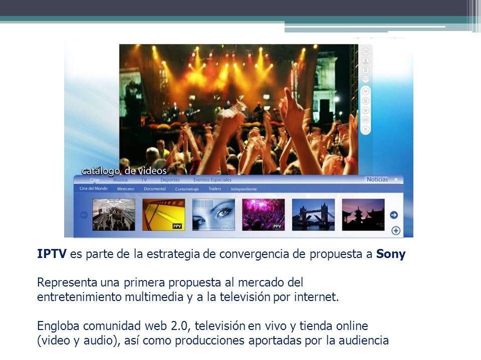 IPTV es parte de la estrategia de convergencia de propuesta a Sony