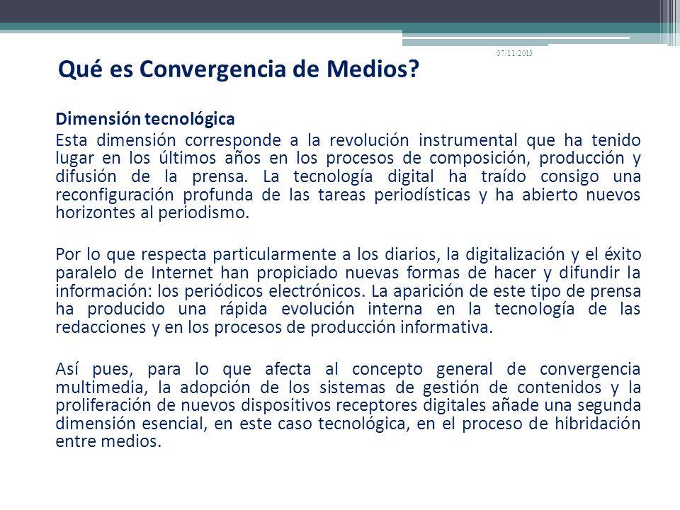 Qué es Convergencia de Medios