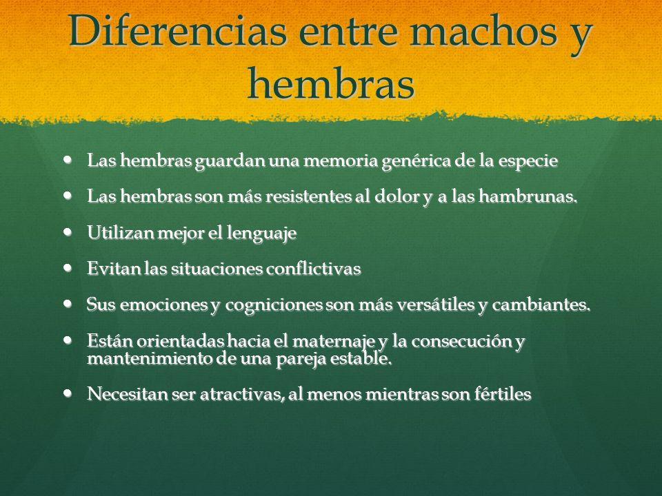 Diferencias entre machos y hembras