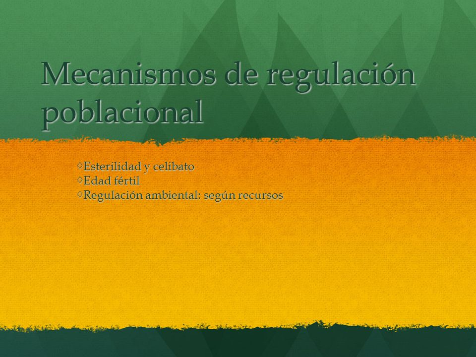Mecanismos de regulación poblacional