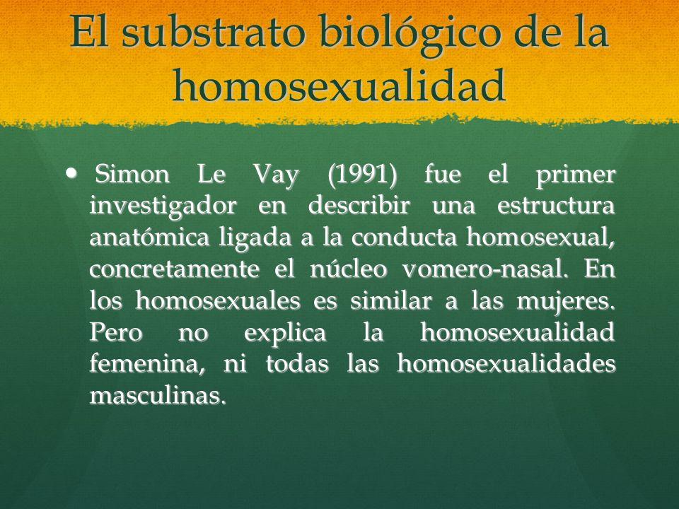El substrato biológico de la homosexualidad