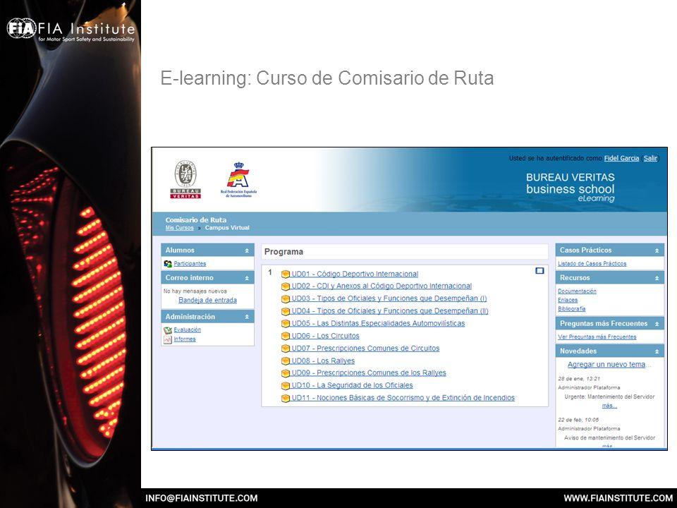 E-learning: Curso de Comisario de Ruta