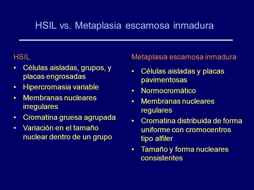 HSIL vs. Metaplasia escamosa inmadura