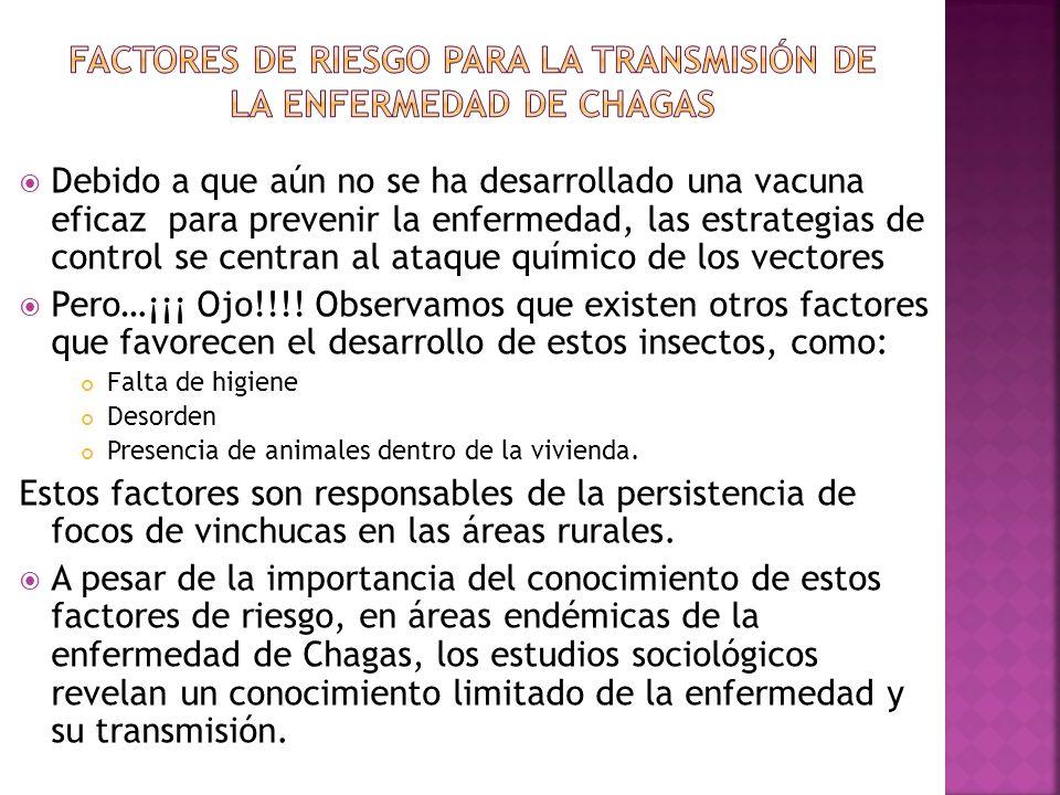 FACTORES DE RIESGO PARA LA TRANSMISIÓN DE LA ENFERMEDAD DE CHAGAS