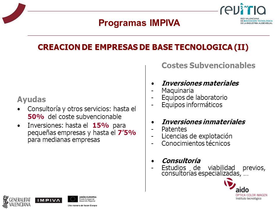CREACION DE EMPRESAS DE BASE TECNOLOGICA (II)