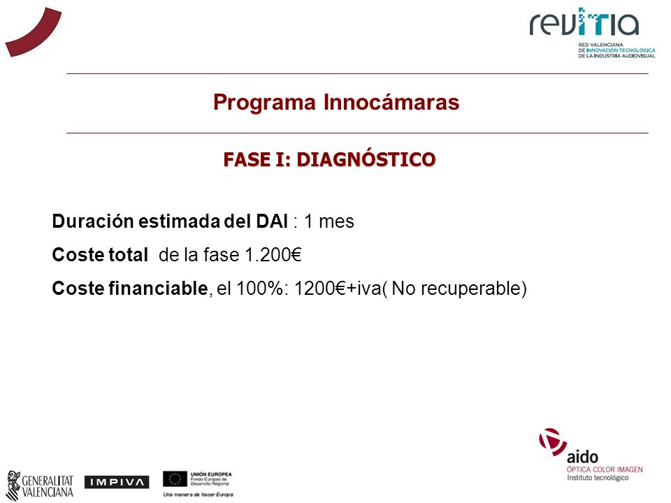 Programa Innocámaras FASE I: DIAGNÓSTICO