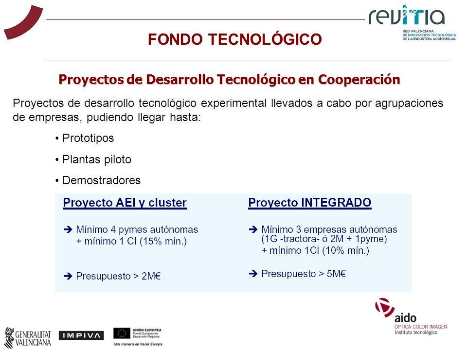 Proyectos de Desarrollo Tecnológico en Cooperación