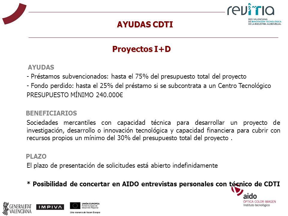 AYUDAS CDTI Proyectos I+D