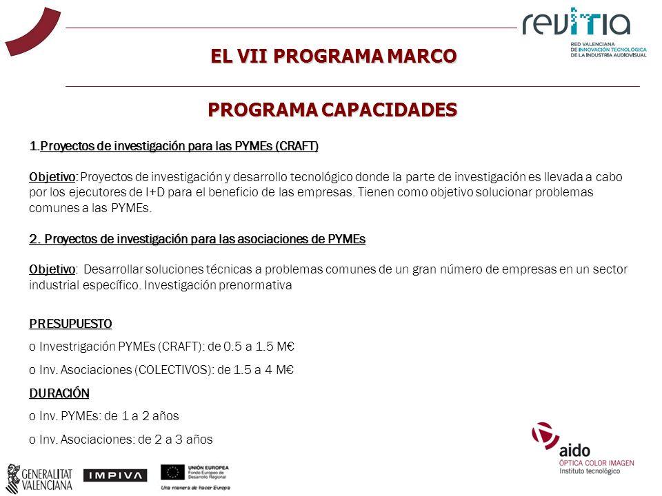 EL VII PROGRAMA MARCO PROGRAMA CAPACIDADES