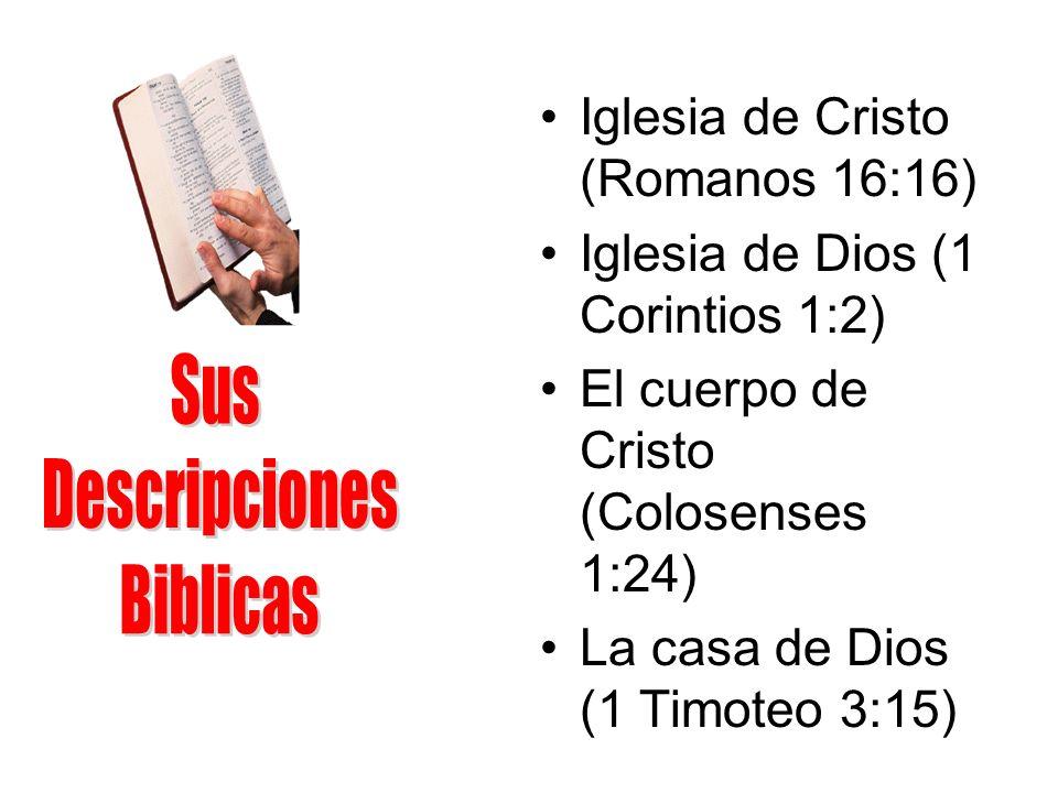 Sus Descripciones Biblicas Iglesia de Cristo (Romanos 16:16)