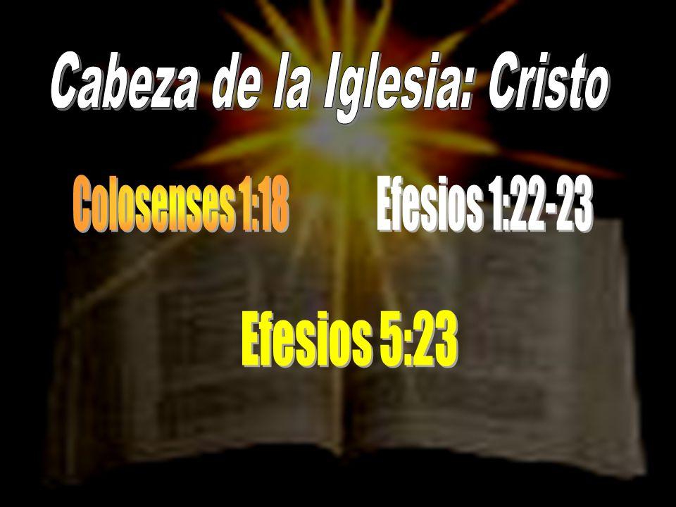 Cabeza de la Iglesia: Cristo