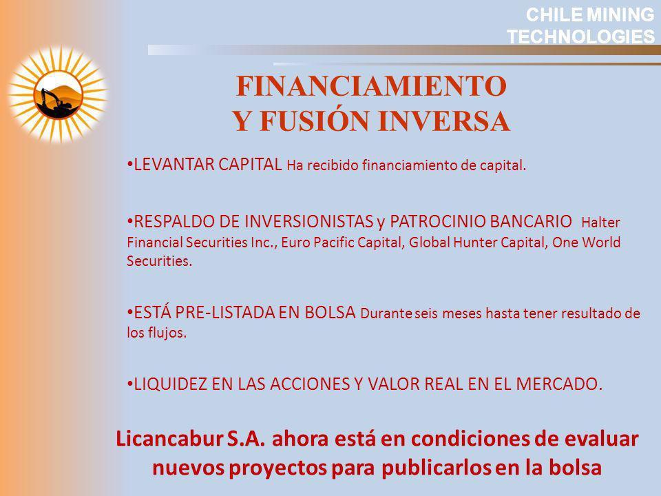 FINANCIAMIENTO Y FUSIÓN INVERSA